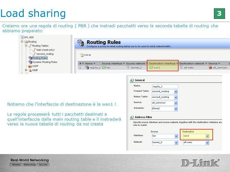 Creiamo ora una regola di routing ( PBR ) che instradi pacchetti verso la seconda tabella di routing che abbiamo preparato: Notiamo che linterfaccia d