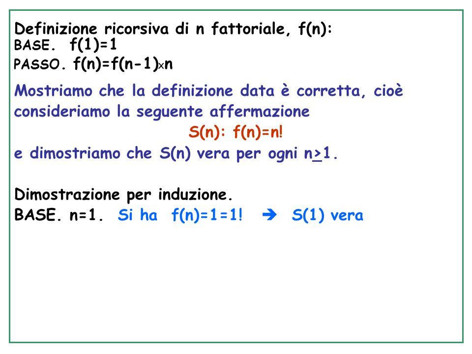 SelectionSort RICORSIVO void Rec- SelectionSort(int A[], int i, int n) int j,small,temp; { if (i<n-1) /* Base: i=n-1, Esci*/ { /*Esegui Passo*/ small=i; for(j=i+1, j<n,j++) if (A[j]<A[small]) small=j; /* trova min */ temp=A[small]; A[small]=A[i]; A[i]=temp; /* scambia */ Rec-SelectionSort(A,i+1,n) } BASE.