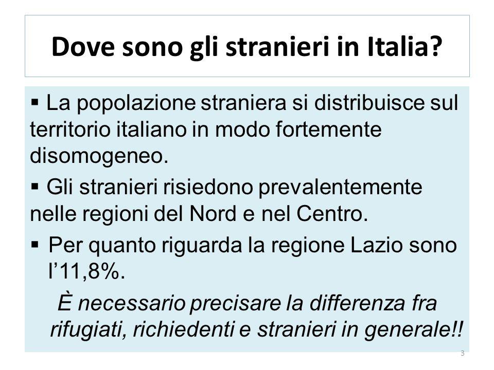 Dove sono gli stranieri in Italia? La popolazione straniera si distribuisce sul territorio italiano in modo fortemente disomogeneo. Gli stranieri risi