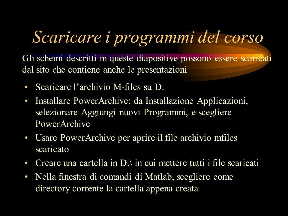 Scaricare i programmi del corso Scaricare larchivio M-files su D: Installare PowerArchive: da Installazione Applicazioni, selezionare Aggiungi nuovi P