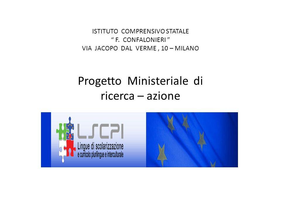 ISTITUTO COMPRENSIVO STATALE F. CONFALONIERI VIA JACOPO DAL VERME, 10 – MILANO Progetto Ministeriale di ricerca – azione