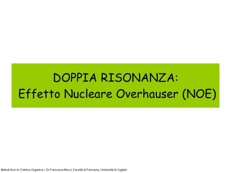 DOPPIA RISONANZA: Effetto Nucleare Overhauser (NOE)