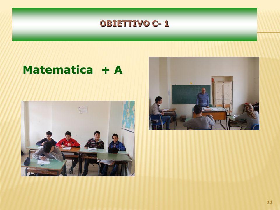 11 OBIETTIVO C- 1 Matematica + A