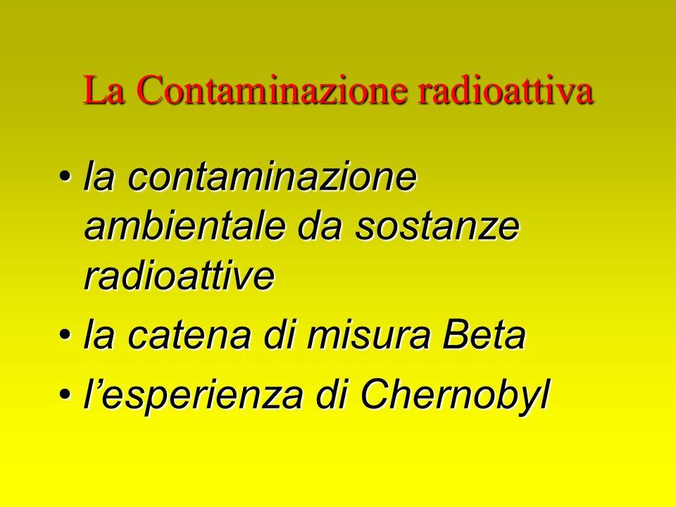 La Contaminazione radioattiva la contaminazione ambientale da sostanze radioattivela contaminazione ambientale da sostanze radioattive la catena di mi