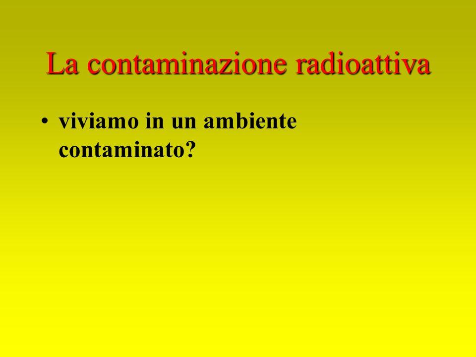 viviamo in un ambiente contaminato?