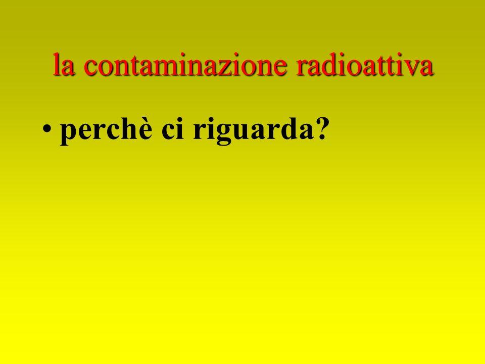 la contaminazione radioattiva perchè ci riguarda?