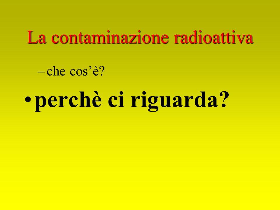 La contaminazione radioattiva –che cosè? perchè ci riguarda?