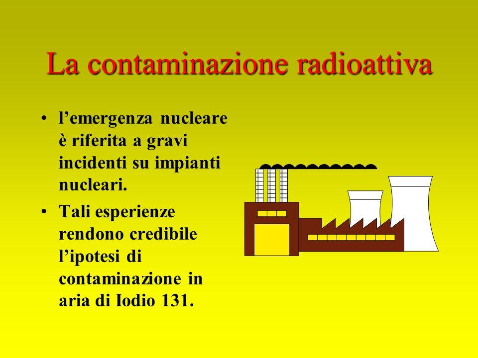 La contaminazione radioattiva lemergenza nucleare è riferita a gravi incidenti su impianti nucleari. Tali esperienze rendono credibile lipotesi di con