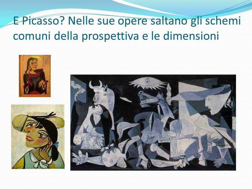 E Picasso? Nelle sue opere saltano gli schemi comuni della prospettiva e le dimensioni