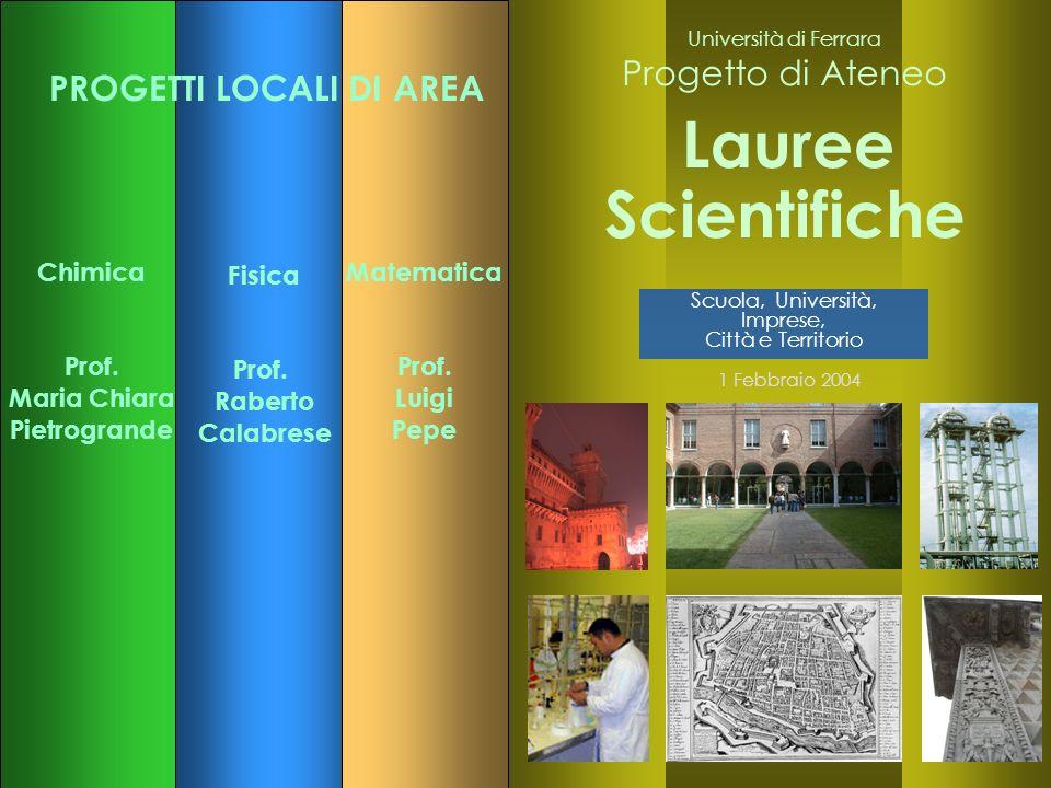 19 Dipartimento di Chimica Università di Ferrara Italy Francesco Dondi Department of Chemistry University of Ferrara Banz, D, 10.1.05 E.mail: F.Dondi@