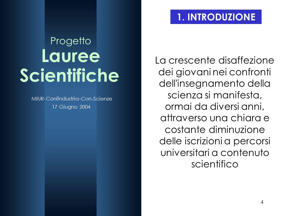 4 1. INTRODUZIONE La crescente disaffezione dei giovani nei confronti dell'insegnamento della scienza si manifesta, ormai da diversi anni, attraverso