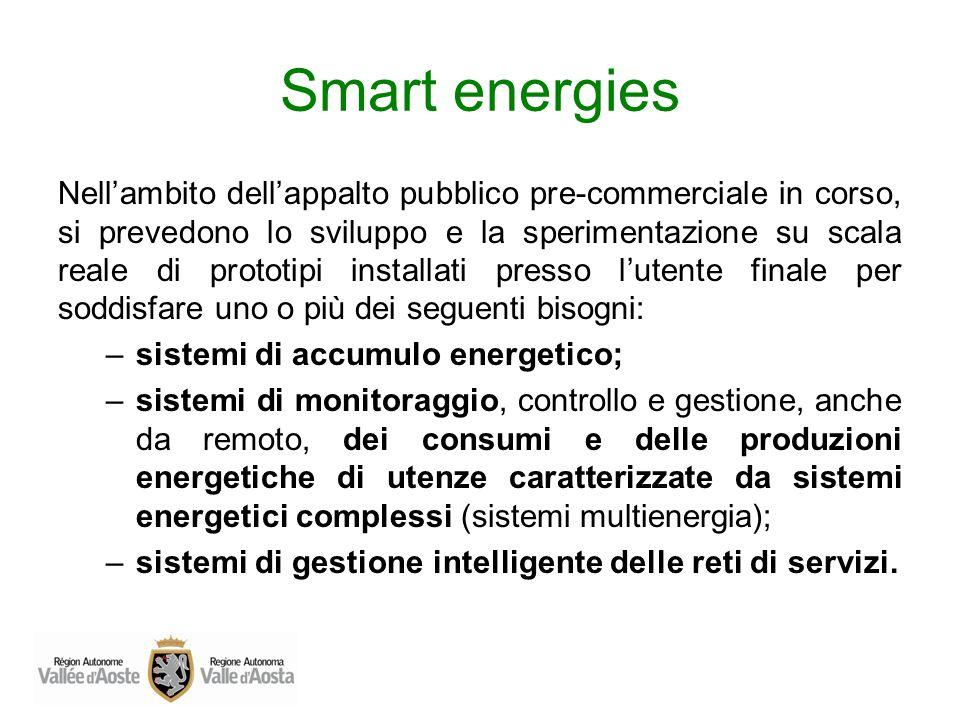 Smart energies Nellambito dellappalto pubblico pre-commerciale in corso, si prevedono lo sviluppo e la sperimentazione su scala reale di prototipi ins