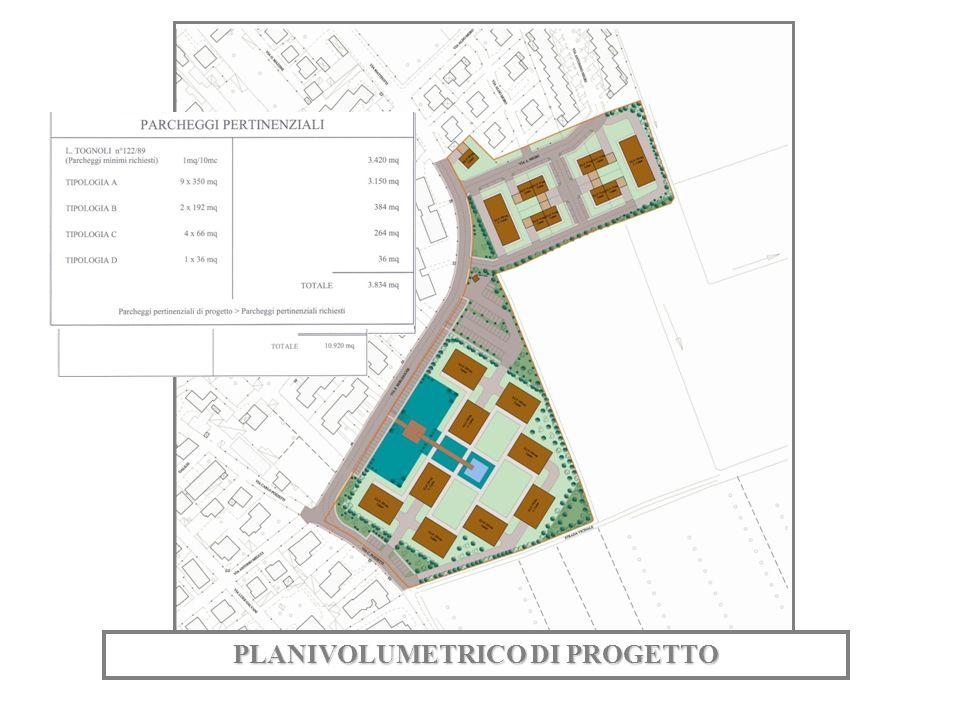 PLANIVOLUMETRICO DI PROGETTO