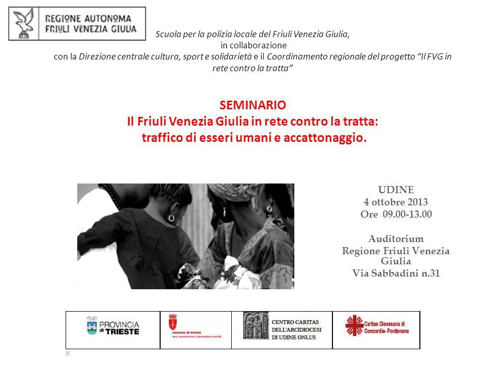 presentazione del progetto Il Friuli Venezia Giulia in rete contro la tratta.