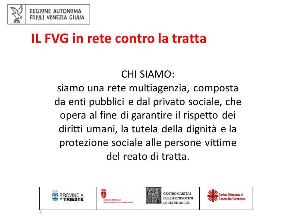 IL FVG in rete contro la tratta: emersione delle vittime: art 13 legge 228/ 2003.