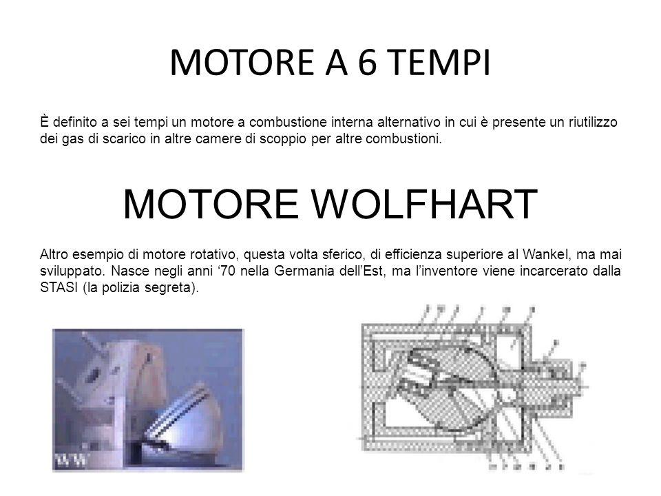 MOTORE A 6 TEMPI È definito a sei tempi un motore a combustione interna alternativo in cui è presente un riutilizzo dei gas di scarico in altre camere