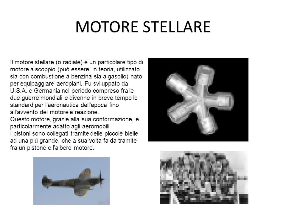 MOTORE STELLARE Il motore stellare (o radiale) è un particolare tipo di motore a scoppio (può essere, in teoria, utilizzato sia con combustione a benz