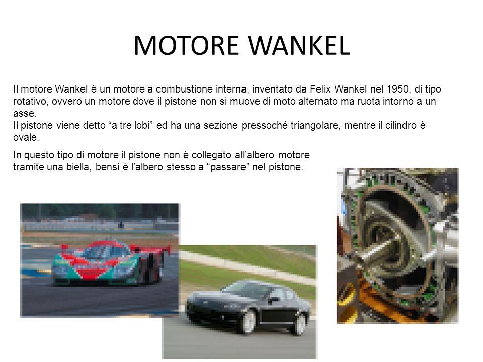 MOTORE WANKEL Il motore Wankel è un motore a combustione interna, inventato da Felix Wankel nel 1950, di tipo rotativo, ovvero un motore dove il pisto