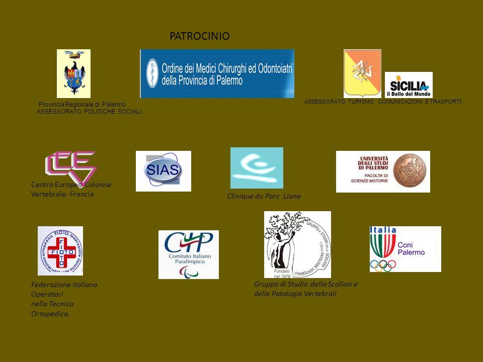 PATROCINIO Federazione Italiana Operatori nella Tecnica Ortopedica. Gruppo di Studio della Scoliosi e delle Patologie Vertebrali Clinique du Parc Lion