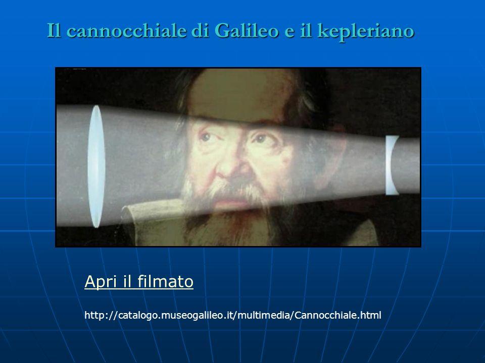 Il cannocchiale di Galileo e il kepleriano Apri il filmato http://catalogo.museogalileo.it/multimedia/Cannocchiale.html