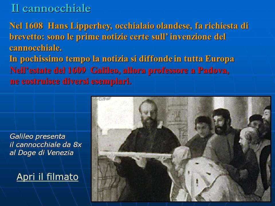 Nellestate del 1609 Galileo, allora professore a Padova, ne costruisce diversi esemplari. Nel 1608 Hans Lipperhey, occhialaio olandese, fa richiesta d