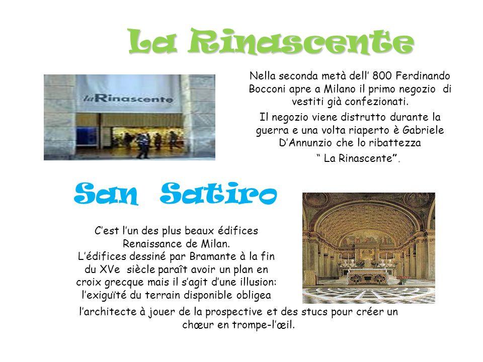 ABERCROMBIE Le magasin de Abercrombie est très célèbre à Milan: on y vend des Tee shirts, des jeans, des robes, des chemises etc… À l entrée du magasin il y a de très beaux mannequins avec lesquels on peut prendre des photos.