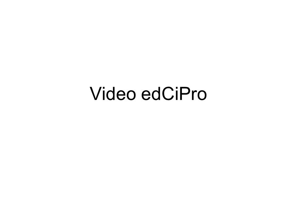 Video edCiPro