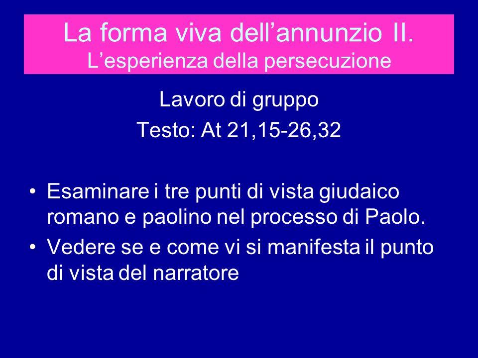 La forma viva dellannunzio II.