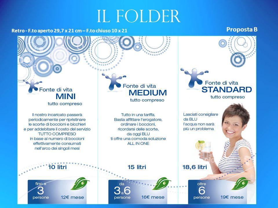 Il folder Retro - F.to aperto 29,7 x 21 cm – F.to chiuso 10 x 21 Proposta B