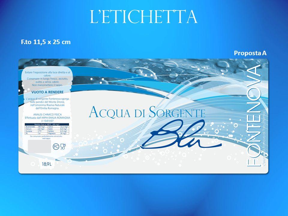 Letichetta F.to 11,5 x 25 cm Proposta A