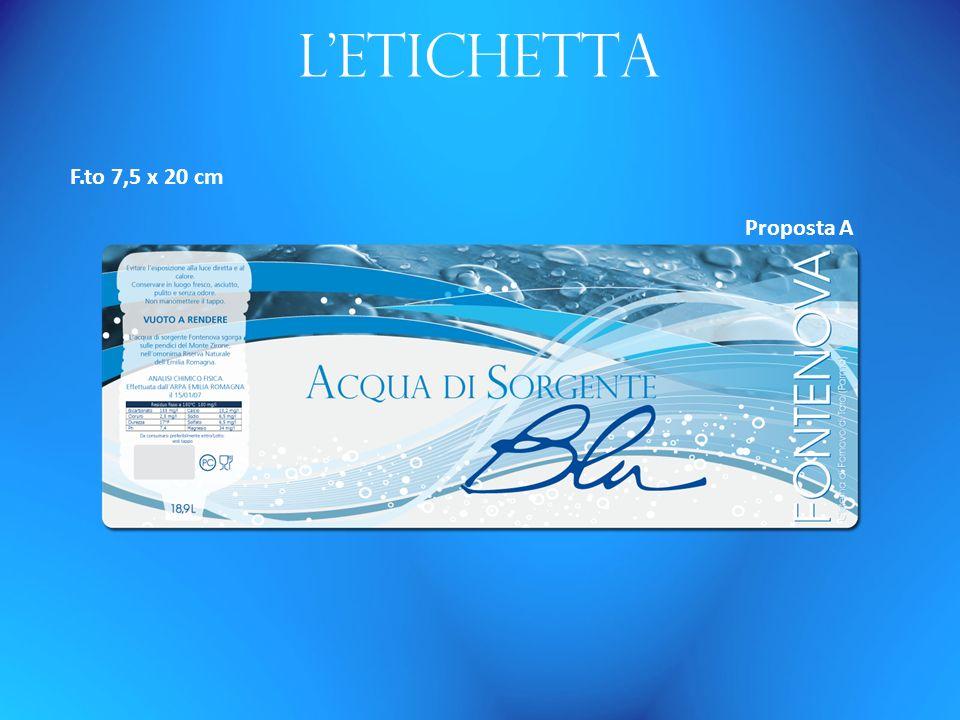 Letichetta F.to 7,5 x 20 cm Proposta A