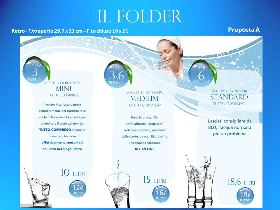 Il folder Retro - F.to aperto 29,7 x 21 cm – F.to chiuso 10 x 21 Proposta A