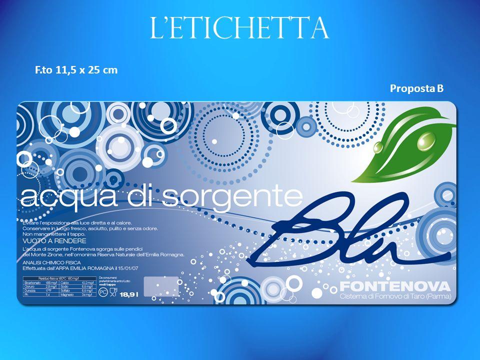 Letichetta F.to 11,5 x 25 cm Proposta B