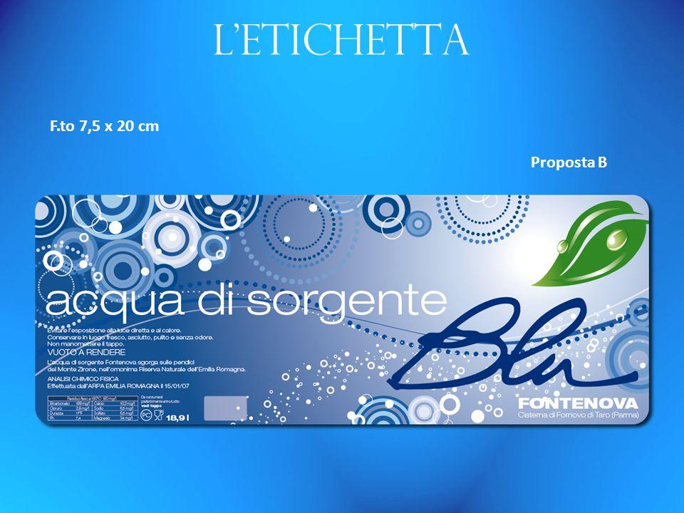 Letichetta F.to 7,5 x 20 cm Proposta B