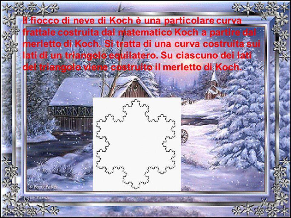 Il fiocco di neve di Koch è una particolare curva frattale costruita dal matematico Koch a partire dal merletto di Koch. Si tratta di una curva costru
