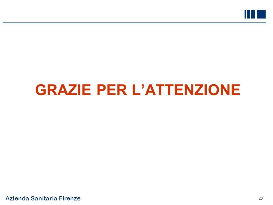 Azienda Sanitaria Firenze 28 GRAZIE PER LATTENZIONE