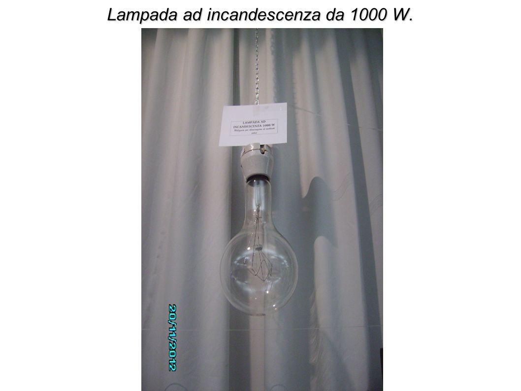 Lampada ad incandescenza da 1000 W.