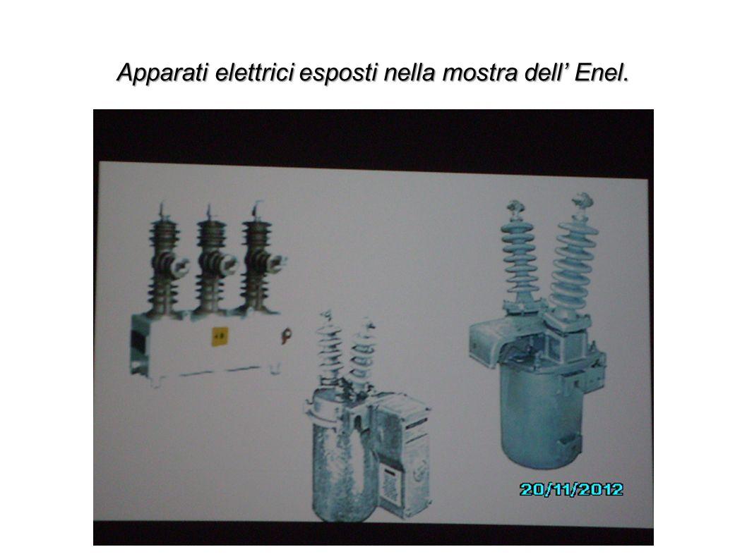 Apparati elettrici esposti nella mostra dell Enel.
