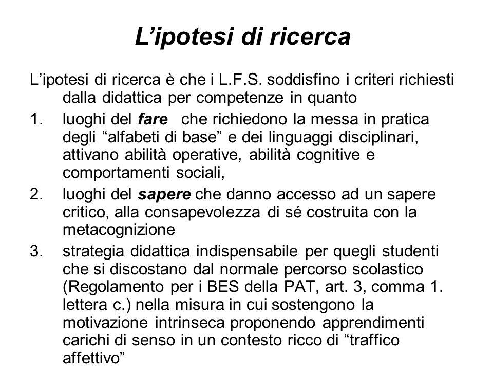 Le questioni La fattibilità Le competenze e la formazione dei docenti La congruenza tra attività di classe e quelle dei L.F.S.