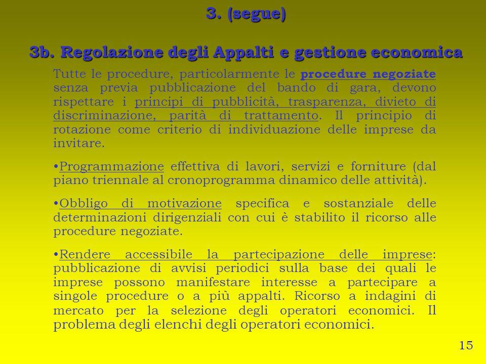 Tutte le procedure, particolarmente le procedure negoziate senza previa pubblicazione del bando di gara, devono rispettare i principi di pubblicità, t