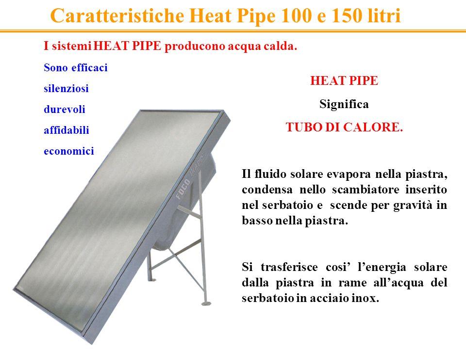 I sistemi HEAT PIPE producono acqua calda. Sono efficaci silenziosi durevoli affidabili economici HEAT PIPE Significa TUBO DI CALORE. Il fluido solare