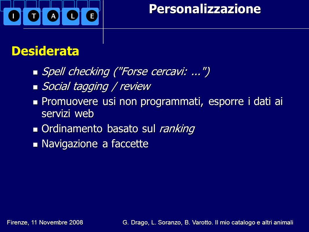 Personalizzazione Spell checking (