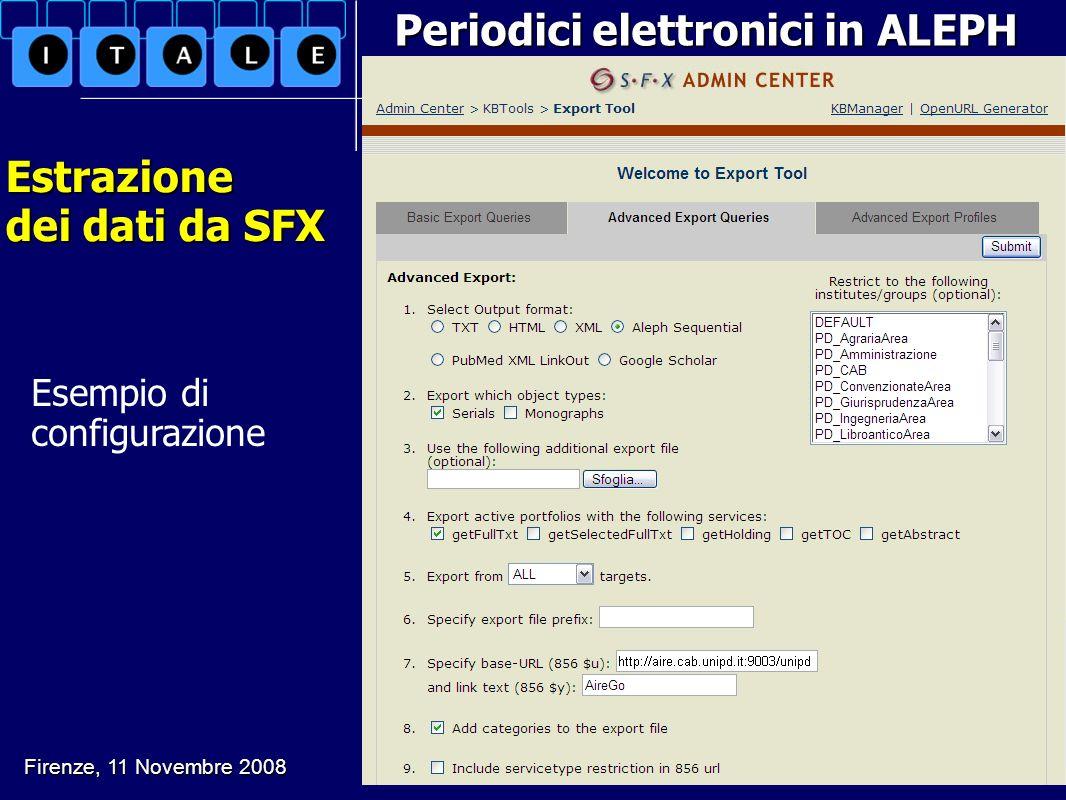 Periodici elettronici in ALEPH Estrazione dei dati da SFX Firenze, 11 Novembre 2008 G. Drago, L. Soranzo, B. Varotto. Il mio catalogo e altri animali