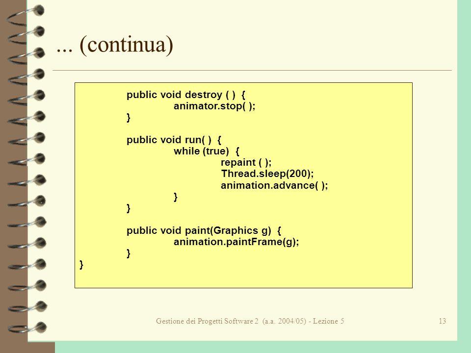 Gestione dei Progetti Software 2 (a.a. 2004/05) - Lezione 513...
