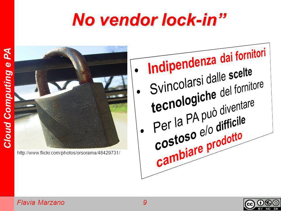 Cloud Computing e PA Flavia Marzano 10 Garante Privacy - Europa http://www.flickr.com/photos/forumpa/35290 80848/ La direttiva UE sulla privacy è obsoleta, bisogna rivederla con un accordo internazionale.