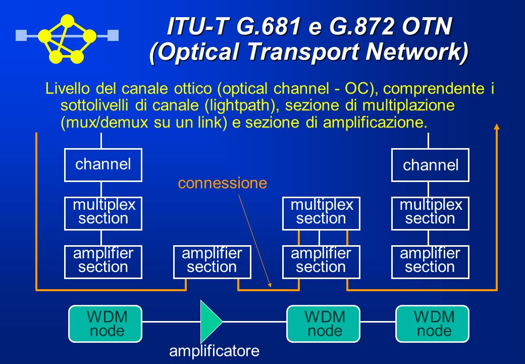Architetture di protocolli Visto lenorme successo di Internet, i protocolli dominanti negli strati alti delle architetture di rete sono applicativi Internet (WWW, e-mail, file transfer, ecc.) di tipo client-server, TCP o UDP a livello trasporto, per controllare e multiplare end-to-end i flussi di informazione, e IP come protocollo di rete.