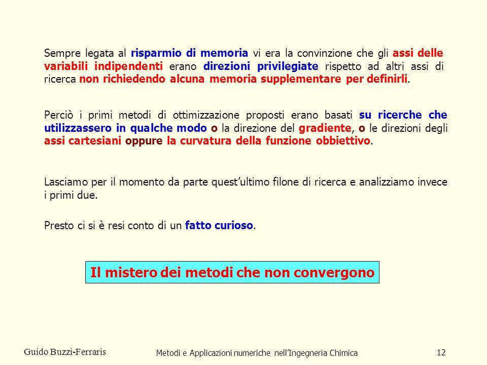 Metodi e Applicazioni numeriche nellIngegneria Chimica 12 Guido Buzzi-Ferraris Sempre legata al risparmio di memoria vi era la convinzione che gli ass