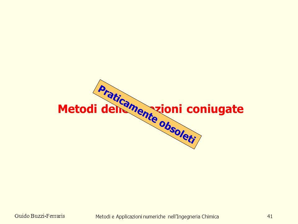 Metodi e Applicazioni numeriche nellIngegneria Chimica 41 Guido Buzzi-Ferraris Metodi delle direzioni coniugate Praticamente obsoleti