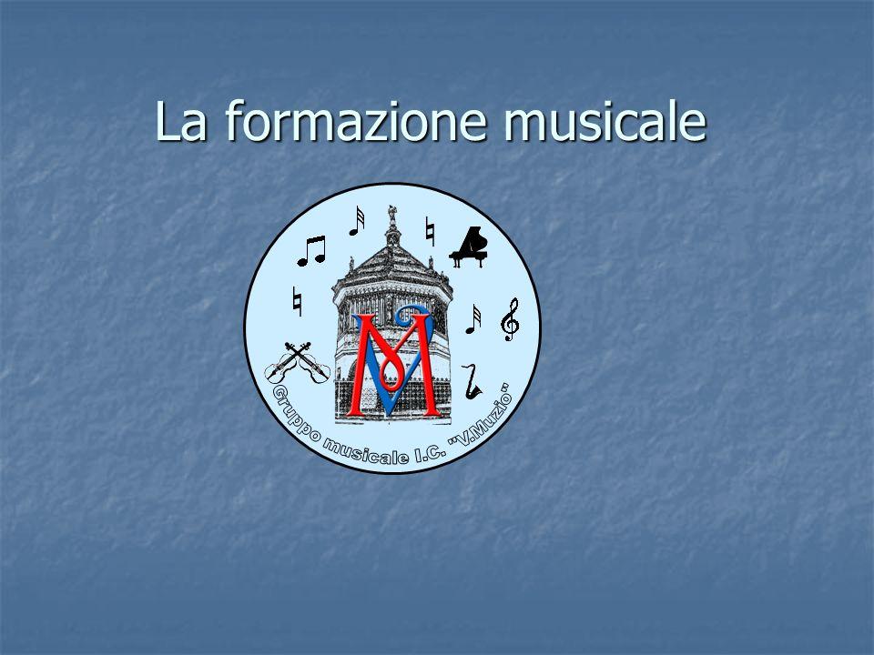 La formazione musicale