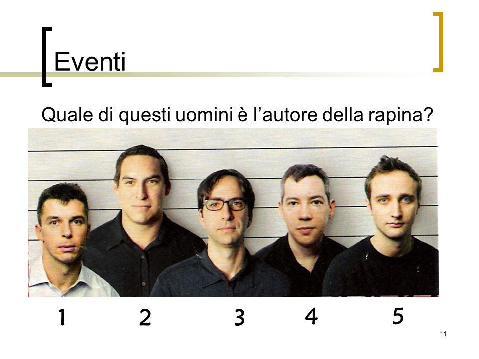 11 Eventi 1 4 23 5 Quale di questi uomini è lautore della rapina?